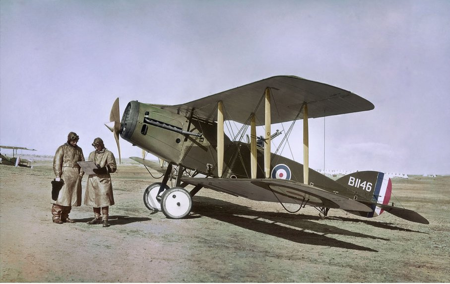 Bristol Fighter  B1146 Captain Ross Smith and observer Palestine February 1918